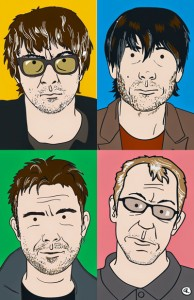 blur best of 14 illustration to accompany Rolling Stone review of The Magic Whip