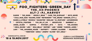Foo Fighters y Green Day encabezarán el Corona Capital 2017